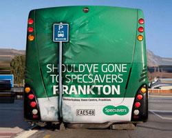 تبلیغات خلاقانه بر روی اتوبوس