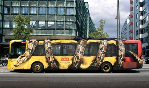 تبلیغات خلاقانه روی اتوبوس