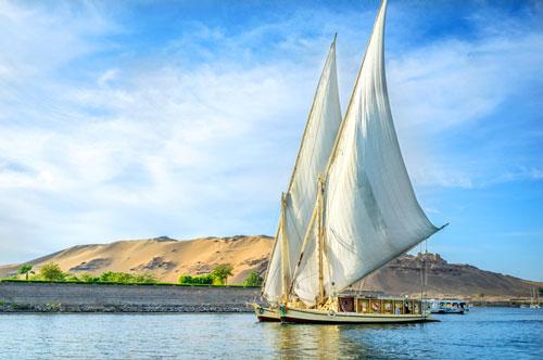 قایق های Felucca  مصر
