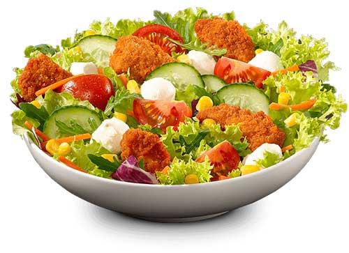 سالاد و سبزیجات خام